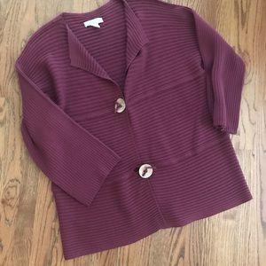 Ribbed plum knit sweater duster Modern Soul XL